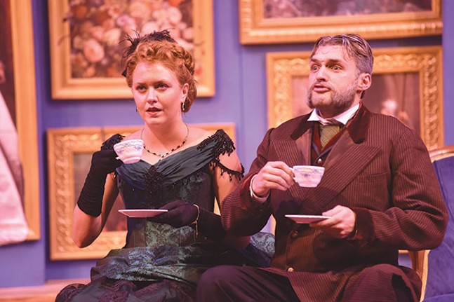Chantelle Guido and Will Brosnahan in The Matchmaker at Carnegie Mellon School of Drama