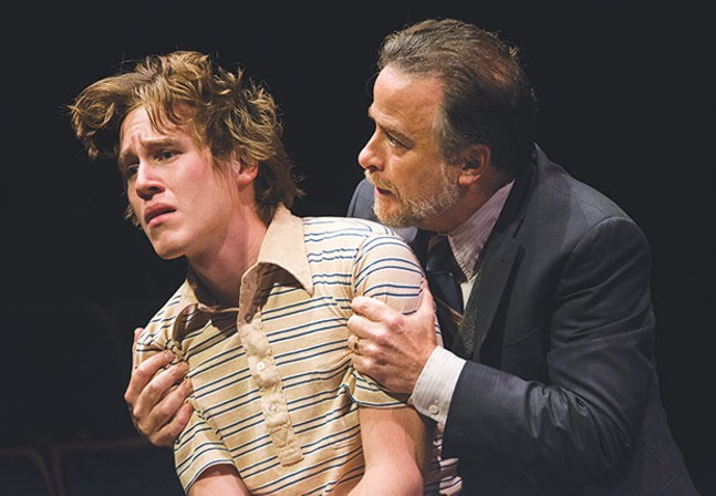 Left to right: Spencer T. Hamp and Daniel Krell in Equus, at Pittsburgh Public Theater