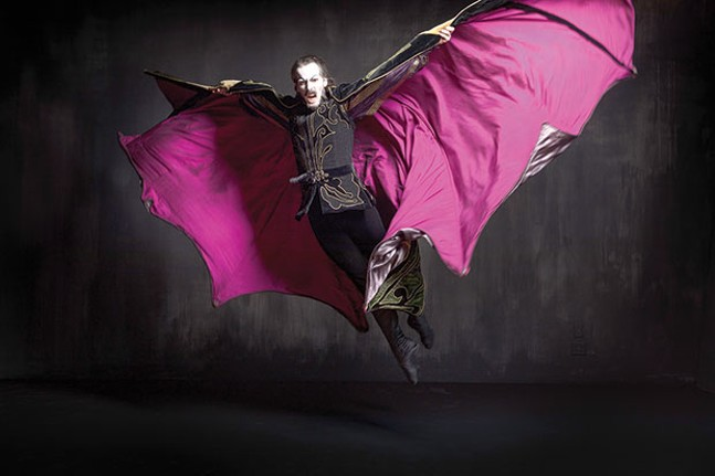 Cooper Verona in Dracula, at Pittsburgh Ballet Theatre