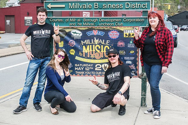 Millvale Music Festival committee members Brian Crawford, Sarah Kremer, Paul Bossung and Andrea Pinigis