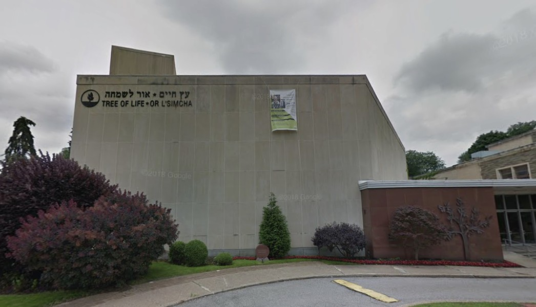 Tree of Life Synagogue in Squirrel Hill - PHOTO COURTESY OF GOOGLE MAPS