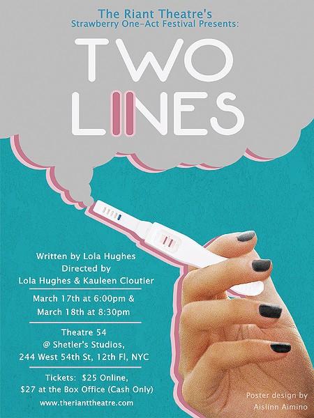 Cap: Two Lines by Lola Hughes - POSTER: AISLINN AIMINO