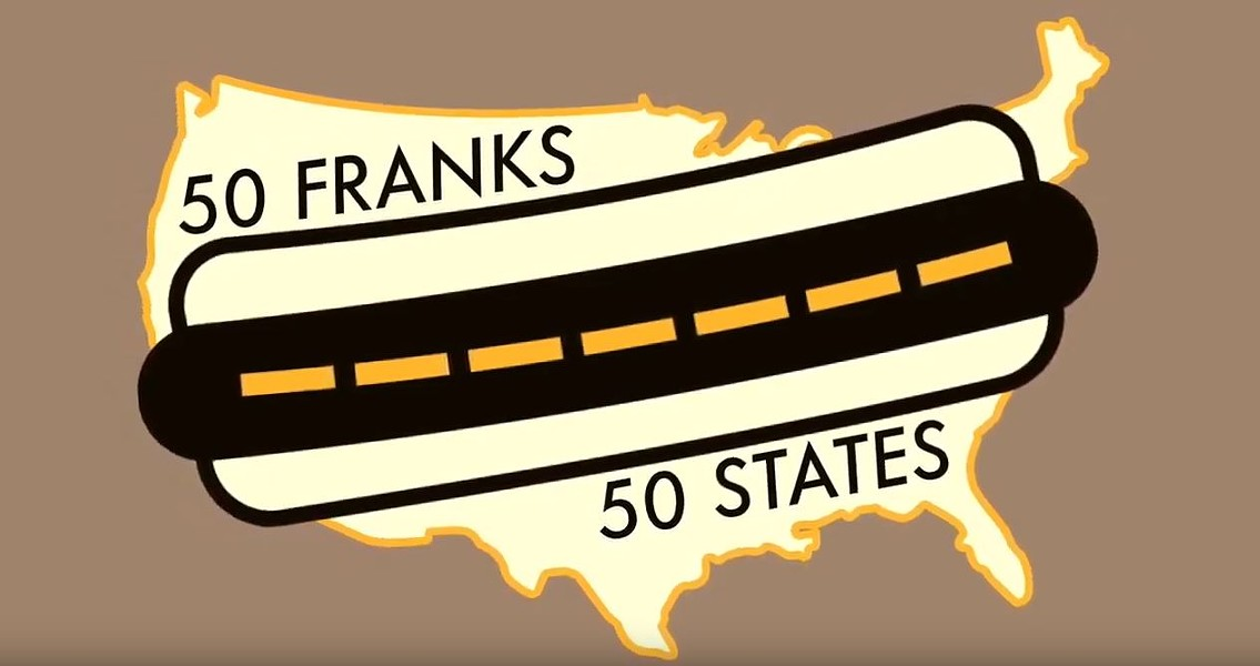 Traveling the country, one hot dog at a time - SCREENSHOT FROM 50 FRANKS 50 FRANKS YOUTUBE VIDEO