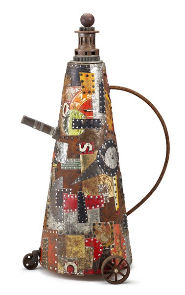 """Hap Sakwa's """"Red Can Rolling"""" - MORGAN CONTEMPORARY GLASS GALLERY"""