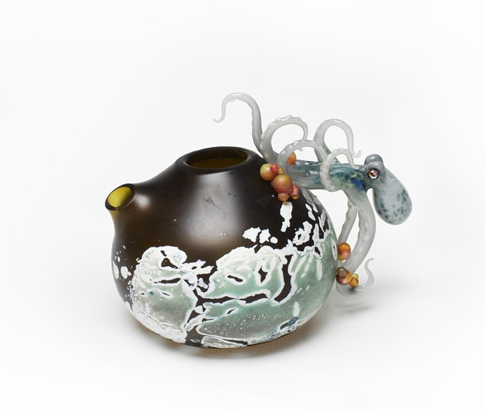 """Jason Chakravarty and Jennifer Caldwell's """"Agony of the Leaf"""" and """"Sweet Teazzz"""" - MORGAN CONTEMPORARY GLASS GALLERY"""