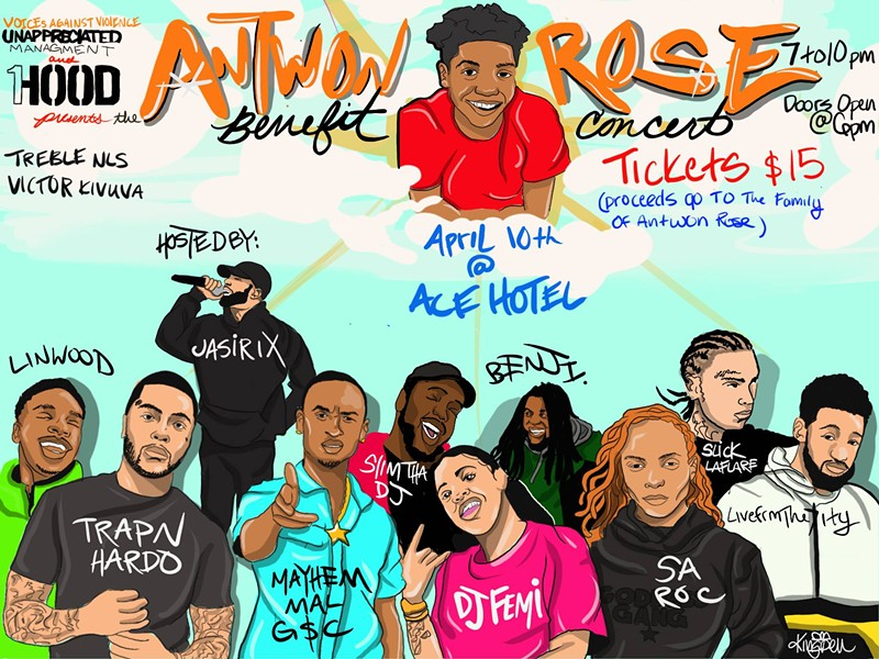 A benefit show for the family of Antwon Rose Jr., hosted by 1Hood - IMAGE: CALEBFERGTHEARTIST
