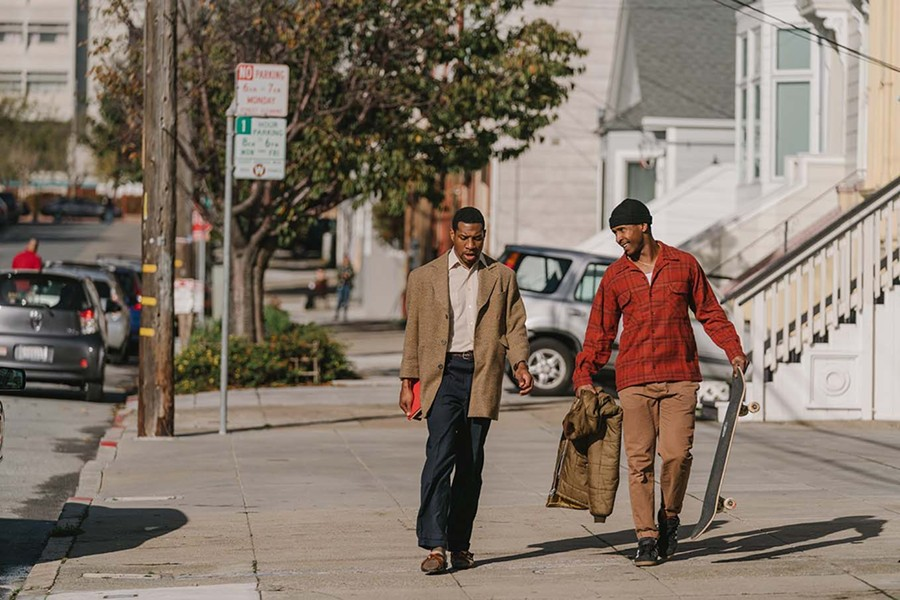 Jonathan Majors and Jimmie Fails in The Last Black Man in San Francisco - PETER PRATO/A24