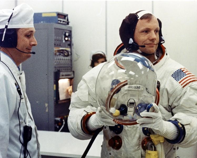 Neil Armstrong prepares for Apollo 11 - NASA