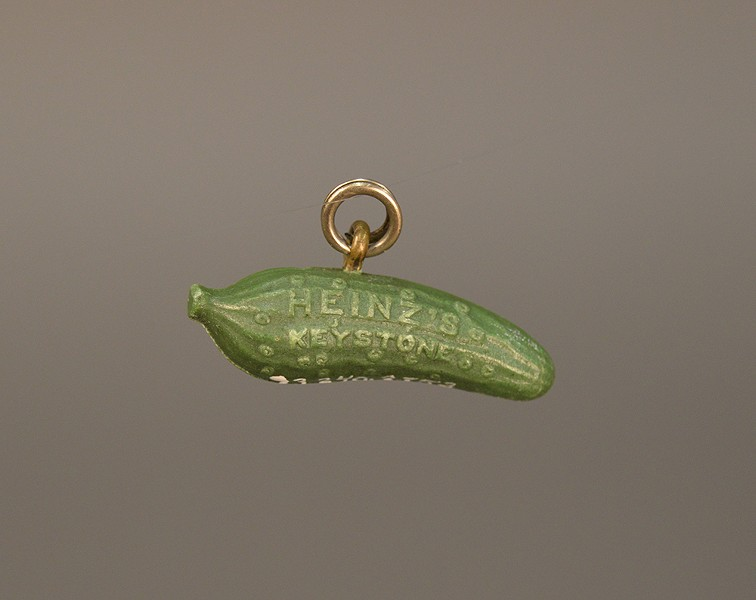 Back when the pickle pin was a pickle watch charm - PHOTO: HEINZ HISTORY CENTER