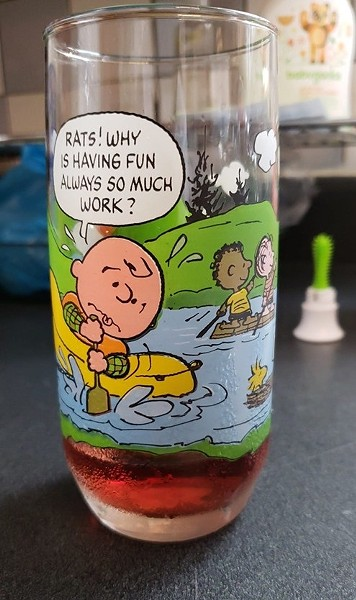 Peanuts collectible drinking glass - PHOTO: KAHMEELA ADAMS-FRIEDSON