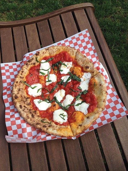Margherita Pizza cooked in under 90 seconds - PHOTO BY ALEX ZIMMERMAN