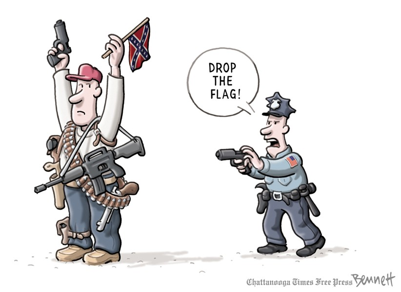 """Armed,"" by Clay Bennett of the Chattanooga Times Free Press"