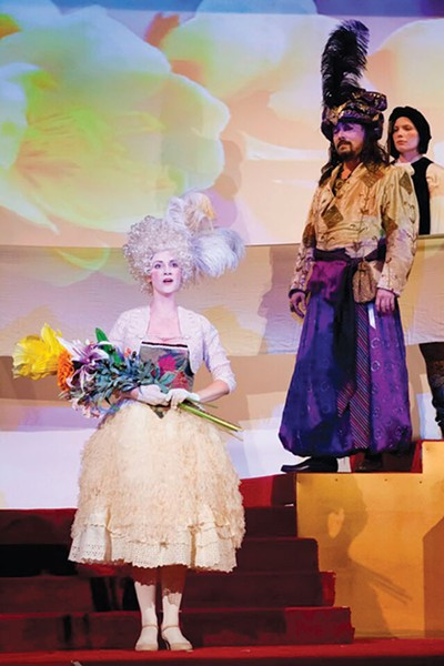 Rebecca Belczyk, Robert Frankenberry and Shannon Kessler Dooley in Quantum Theatre's The Winter's Tale - PHOTO COURTESY OF HEATHER MULL