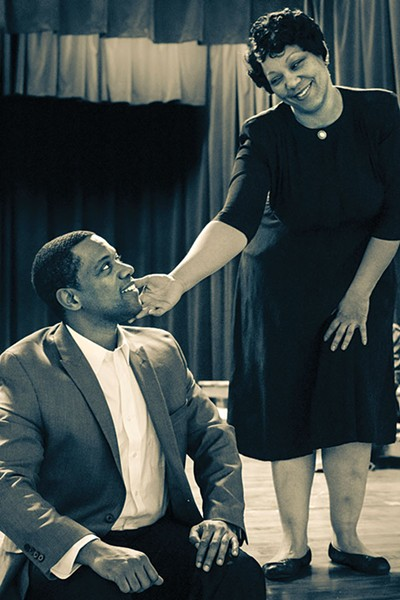 Jonathan Berry and Camille Lowman in New Horizon's The Ballad of Emmett Till - PHOTO COURTESY OF RICHENA BROCKINSON