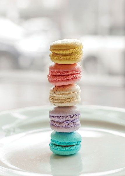 Bartram House: French Macarons from Bartram House Bakery and Café: Almond cookies with soft centers, filled with flavored ganaches - PHOTO BY VANESSA SONG