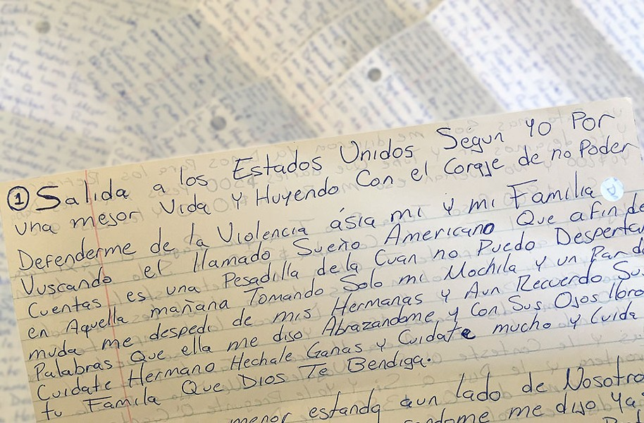 """In a letter Martín wrote to City Paper, he penned, """"I came to the United State for a better life for myself and my family. I could not defend myself and my family from violence. I was looking for the American Dream. But, the dream I was searching for is now a nightmare that I cannot seem to wake up from."""" - CP PHOTO BY LISA CUNNINGHAM"""