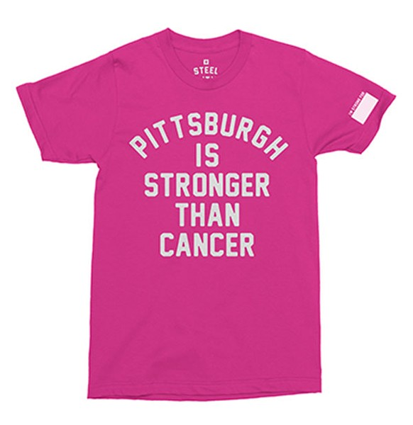 "Steel City's ""Pittsburgh Is Stronger Than Cancer"" T-shirt design"