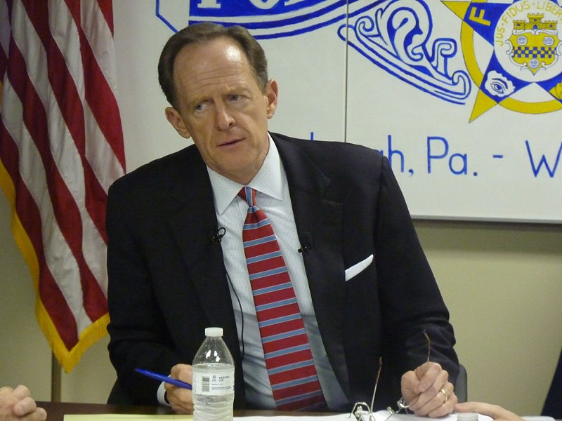 Sen. Pat Toomey - CP PHOTO BY RYAN DETO