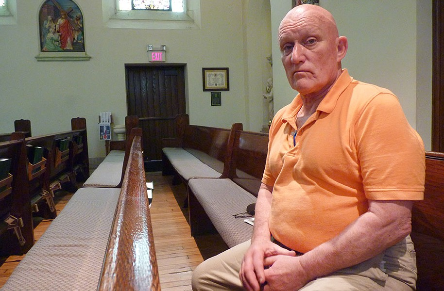 Former Ford City Mayor Marc Mantini inside St. Mary's Roman Catholic Church - CP PHOTO BY RYAN DETO