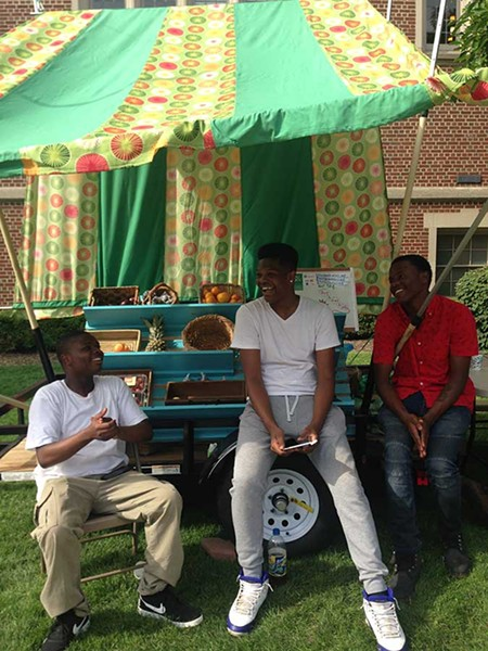 Student employees Tamere Lester, Ronald Shanks, Jamel Haden (pictured left to right) - CP PHOTO BY CELINE ROBERTS