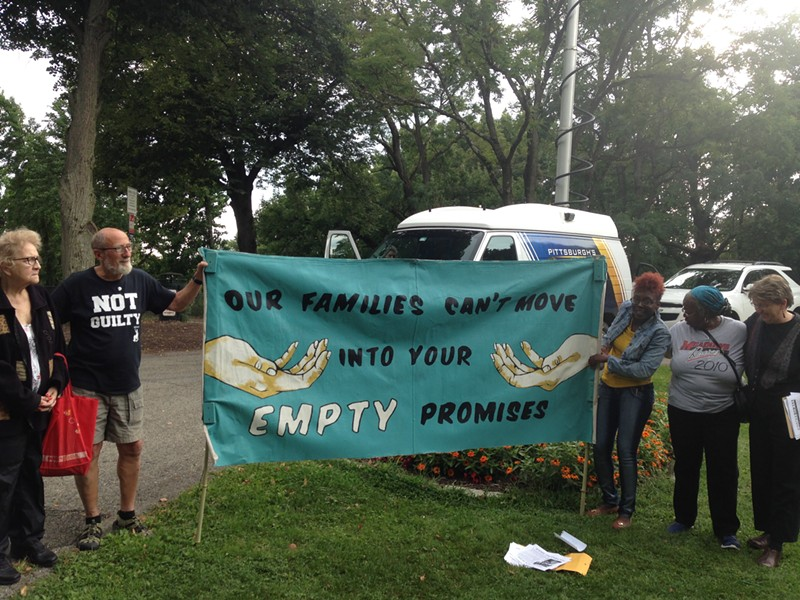 Affordable-housing advocates protesting in Riverview Park on Aug. 24 - CP PHOTO BY RYAN DETO