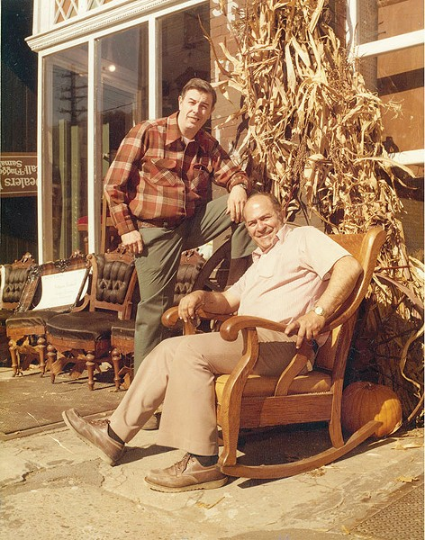 Charlie Samaha (seated) with his friend Fred Flugger on the South Side in this circa-1970s photo - PHOTO COURTESY OF FRED FLUGGER