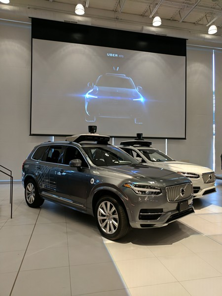 Uber's original driverless car and the newest iteration - CP PHOTO BY REBECCA ADDISON