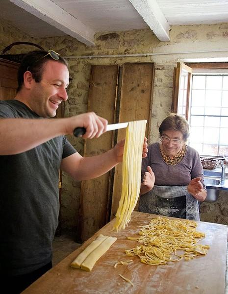 Dave Anoia making pasta in Italy - PHOTO COURTESY OF AIMEE DIANDREA