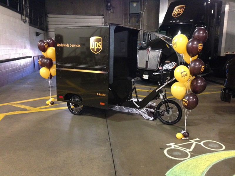 UPS's electric-assist bike-cart - CP PHOTO BY RYAN DETO