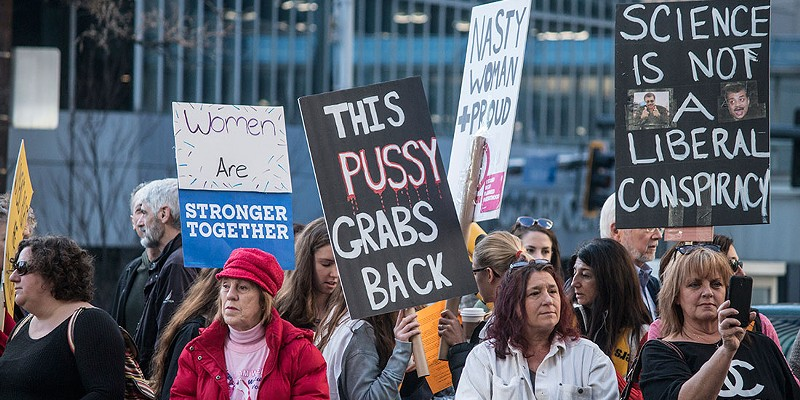Women's March on Pittsburgh  CP photo by Katey Ladika