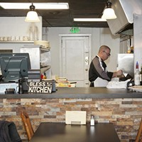 Cucina Vitale Cucina Vitale owner Frank Vitale cooks in the open kitchen Photo by Heather Mull