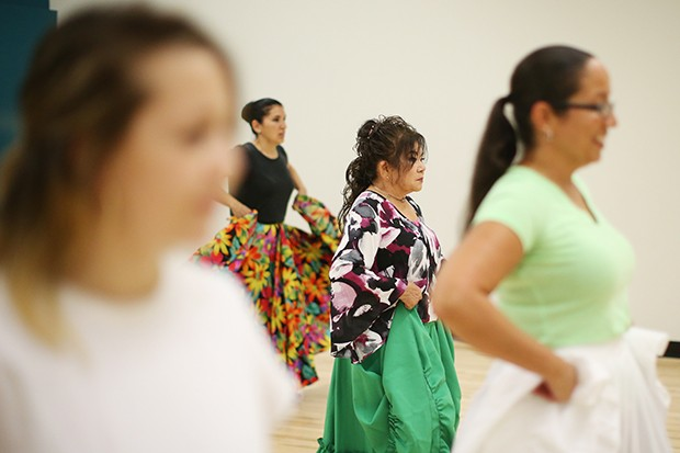Toshiko Shiroma participates in a Calle Bomba Series Workshop - CP PHOTO BY JARED WICKERHAM