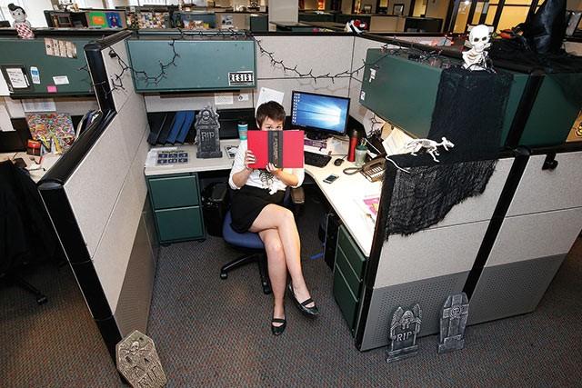 Amanda Waltz at her desk. - CP PHOTOS: JARED WICKERHAM
