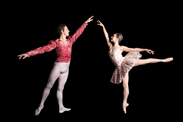 """William Moore and Gabrielle Thurlow in George Balanchine's""""Divertimento No. 15"""" - DUANE RIEDER"""