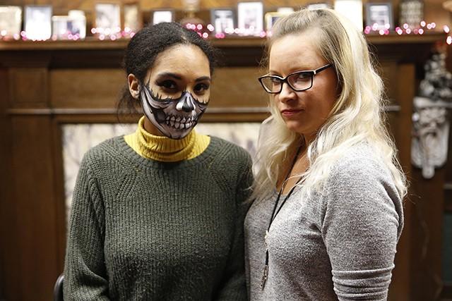 Jordan Snowden and makeup artist Mollie Himes