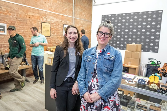 Kelly Sanders and Monica Yope at love, Pittsburgh's new Downtown location - CP PHOTO BY RENEE ROSENSTEEL
