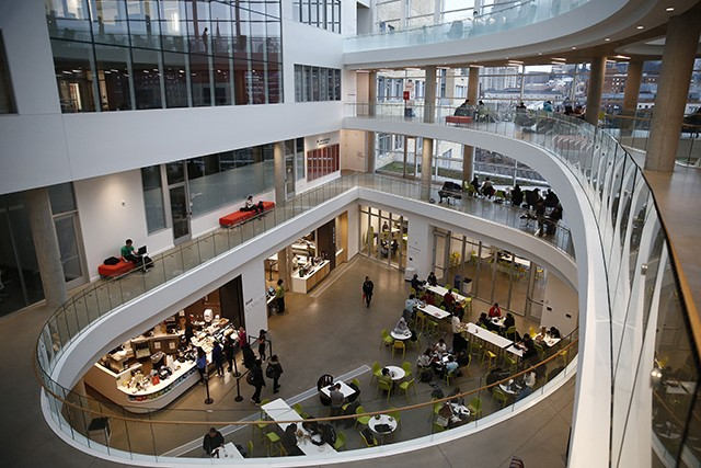 Inside the Tepper Business School on the campus of Carnegie Mellon University - CP PHOTO: JARED WICKERHAM