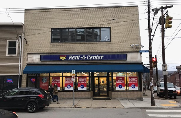 The Rent-A-Center on Butler Street in Lawrenceville - CP PHOTO: RYAN DETO