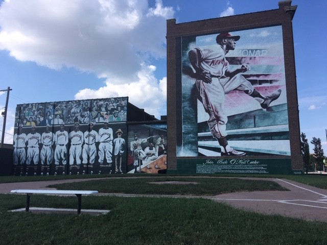 a74a9b229be click to enlarge Mural outside of Negro Leagues Baseball Museum in Kansas  City - CP PHOTO  RYAN DETO