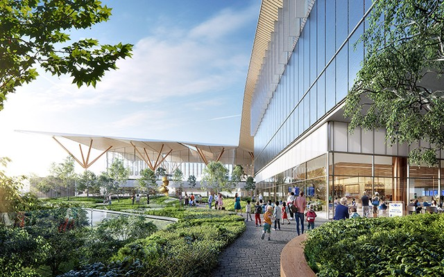 An artist's rendering of the transformed airport plaza - PHOTO: PITTTRANSFORMED.COM