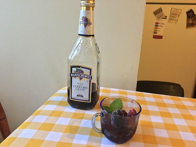 A mildly successful wine slushie - CP PHOTO: HANNAH LYNN