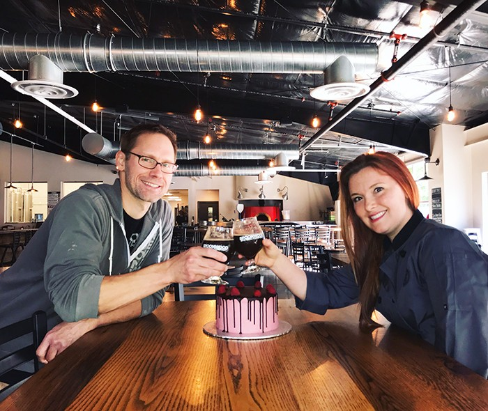 Cheers to The Retort Chocolate Raspberry Cake Stout - COURTESY OF BETHEL BAKERY