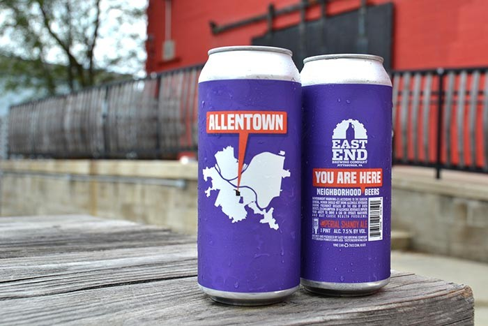 """East End Brewing's """"You Are Here"""" series - COURTESY OF EAST END BREWING"""