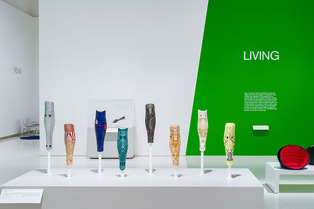 Prosthetic leg covers by ALLELES Design Studio - BRYAN CONLEY/CARNEGIE MUSEUM OF ART