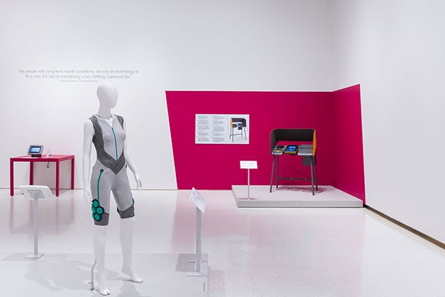 The exhibit includes everything from responsive clothing to an accessible voting booth. - BRYAN CONLEY/CARNEGIE MUSEUM OF ART