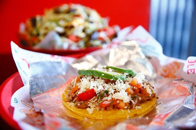 Carnitas tacos at Hometown Tacos - CP PHOTO: JARED WICKERHAM