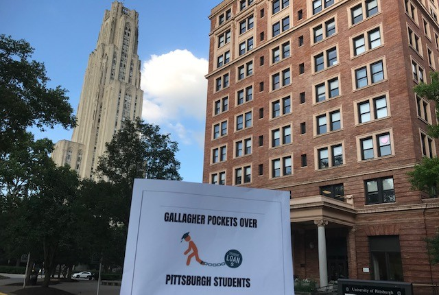 University of Pittsburgh protest flier on campus - CP PHOTO: RYAN DETO
