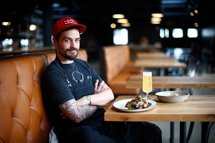Cinderlands Warehouse executive chef Joe Heifer - CP PHOTO: JARED WICKERHAM