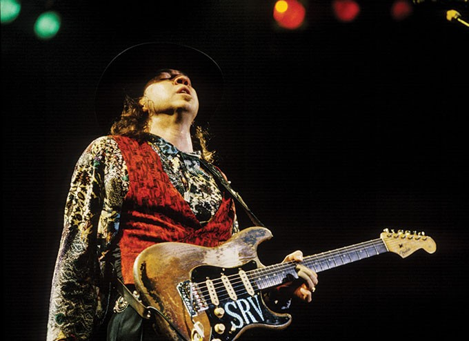 Stevie Ray Vaughan during the final show of the Fire Meets the Fury tour with Jeff Beck - PHOTO: JAY BLAKESBERG
