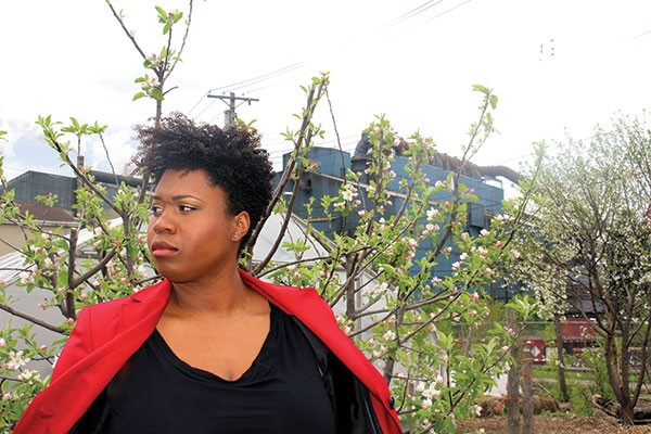 Bria Walker as the Tour Guide in Saints Tour - PHOTO BY HEATHER MULL